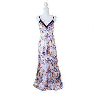 Bebe 2b Silky Floral Maxi Dress